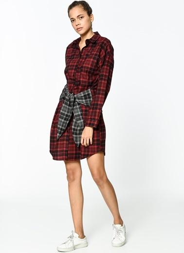 Kurdela Detaylı Gömlek Elbise-Koton